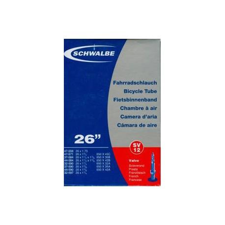 Chambre à air SCHWALBE SV12 26x1.25/1.75 Presta 40mm
