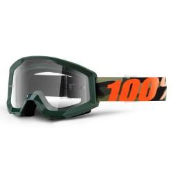 100% Strata Goggles Huntsitan Green